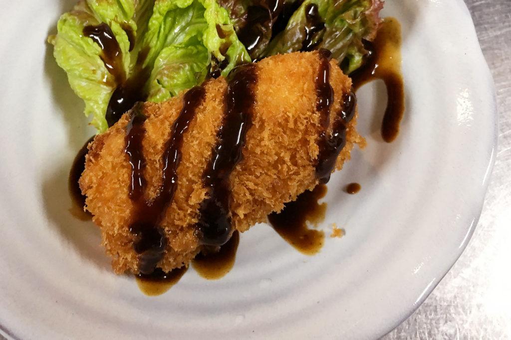 かにクリームコロッケ (1個) サラダ付 - ディナーメニュー